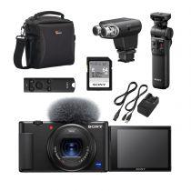 sony starter vlogger kit sony zv-1 gp-vpt2bt sdkort laderkit taske ecm-xyst1m mikrofon rmt-p1bt fjernbetjening.jpg