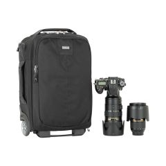 Think Tank Essentials Convertible Rolling Backpack, Black