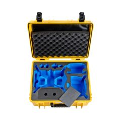 B&W Outdoor Cases BW Drone Cases Type 6000  DJI FPV Combo for 6+2 batteries Yellow