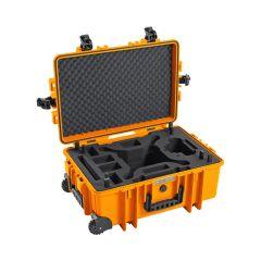 B&W Outdoor Cases BW Drone Cases Type 6700 DJI Phantom 4 Pro / Pro+ / Advanced / Obsidian Orange