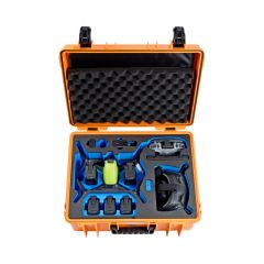 B&W Outdoor Cases BW Drone Cases Type 6000  DJI FPV Combo for 6+2 batteries Orange