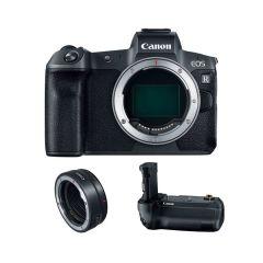 Canon EOS R Hus + BG-E22 + EF-EOS-R Adapter (Inkl. Fordelsprogram & Extra Originalt Batteri U/B)