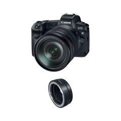 Canon EOS R m. RF 24-105mm + Adapter (Inkl. Fordelsprogram & Extra Originalt Batteri U/B)