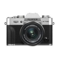 Fujifilm X-T30 m. XC 15-45mm OIS PZ Sølv (Inkl. Enetime & Online Fotokursus U/B)