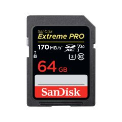 SanDisk SDXC Extreme Pro 64GB 170MB/s UHS-I V30