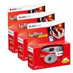 Agfa LeBox Engangskamera 400 Flash 3 pk