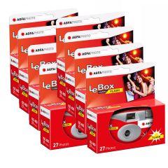 Agfa LeBox Engangskamera 400 Flash 8 pk