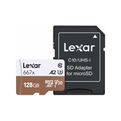 Lexar Pro 667X microsdXC/SDXC 128GB + adapter
