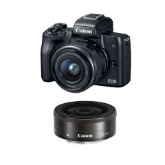 Canon EOS M50 med EF-M 15-45mm IS STM + EF-M 22mm f/2 STM