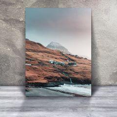 Fald, Leynasandur en stille januar aften, Plakat i 50x70