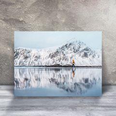Spejl, Skagsanden strand i Lofoten, Plakat i 50x70