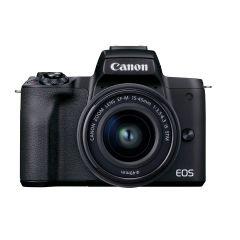 Canon EOS M50 MK II m. 15-45mm Sort (Inkl. Enetime & Fordelsprogram + Zeiss Rengøringkit)