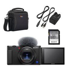 sony starter vlogger kit sony zv-1 sdkort laderkit taske.jpg